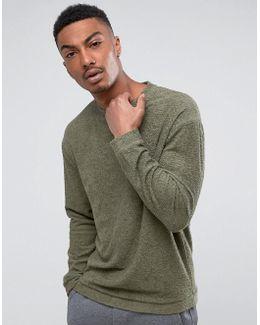 Sweatshirt In Cotton Towelling