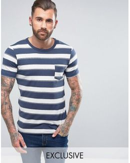 Vintage T-shirt With Stripe And Pocket