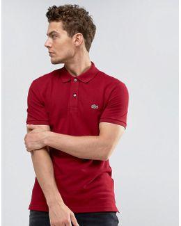 Burgundy Logo Slim-fit Polo Shirt