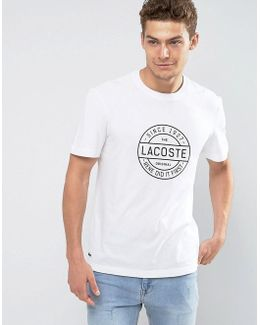Large Graphic Logo T-shirt In White