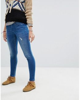 Washed Skinny Jean