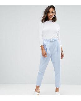 Circle Belted Peg Pants
