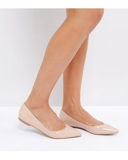 Latch Pointed Ballet Flats