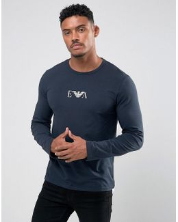 Slim Fit Long Sleeve T-shirt In Navy
