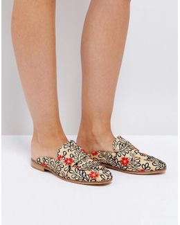 Brocade Loafer With Embroidery And Sequin Detail