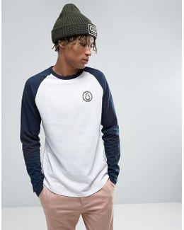 Long Sleeve Raglan T-shirt With Sludge Logo
