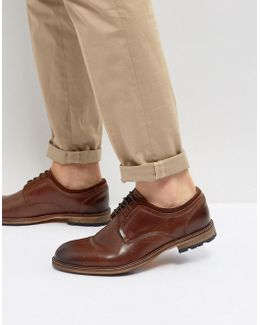 Gambol Leather Shoes In Cognac