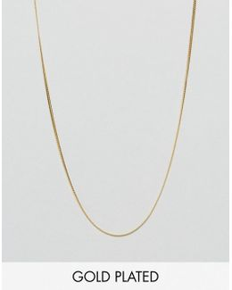 Sterling Silver Chain With Gold Plating