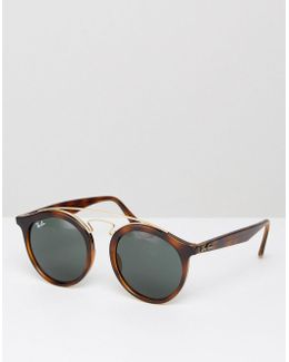 Gatsby Round Sunglasses In Black Rb4256 710/7149