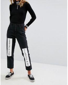 Taiki Badge Mom Jeans