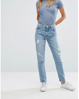 Kimomo Light Wash Mom Jeans