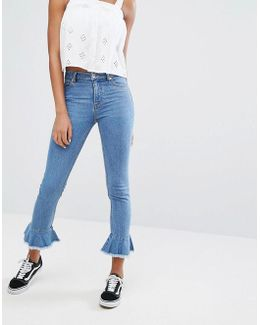 Flare Hem Jeans
