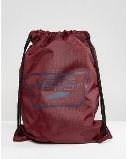 League Bench Drawstring Backpack In Burgundy