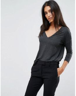 Light Weight Knitted V Neck Top