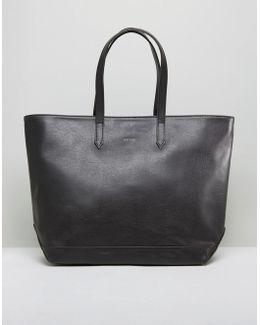 Minimal Tote Bag In Black