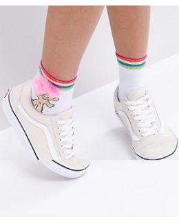 Troll Stripe Top Socks