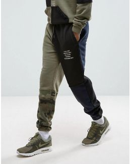 10.deep Joggers With Camo Splicing