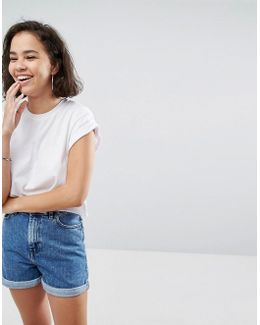 Cropped T-shirt In Boyfriend Fit