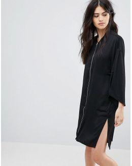 Zip Through Tunic Dress