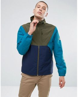Cochato Hooded Jacket Techical Waterproof Tricolor In Green