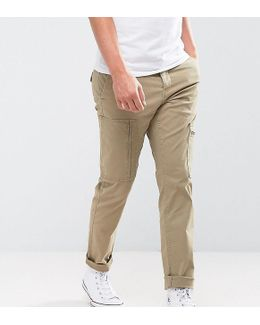 Slim Fit Cargo Trouser With Zip Pocket Details