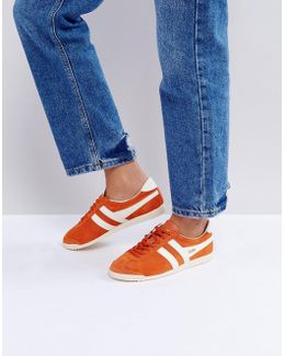 Bullet Suede Sneakers In Orange