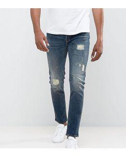 Jeans In Slim Fit With Rip Repair Details