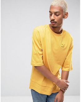 Oversized Double Hemmed T-shirt In Yellow Exclusive To Asos