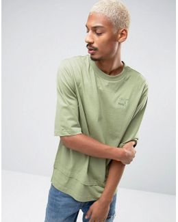 Oversized Double Hemmed T-shirt In Green Exclusive To Asos