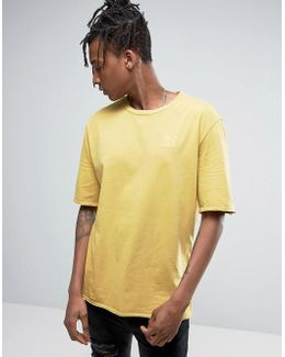 Distressed Oversized T-shirt In Yellow Exclusive To Asos 57530702