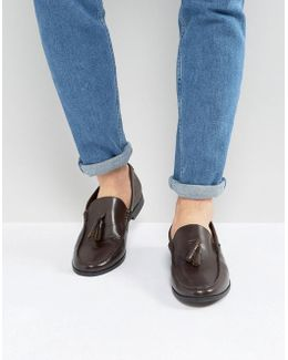 Tassel Loafers In Brown Leather