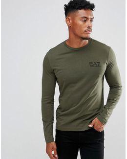 Chest Logo Long Sleeve T-shirt In Khaki