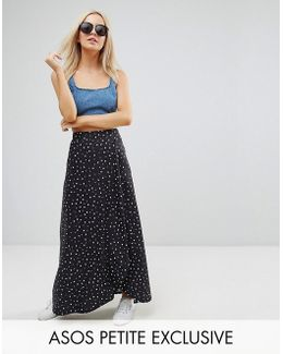 Maxi Wrap Skirt In Spot