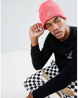 X Mtv Patch Beanie In Pink