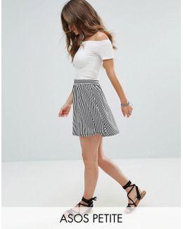 Stripe Mini Skater Skirt
