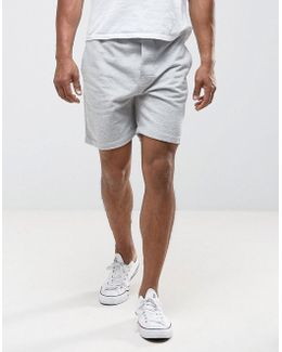 Flag Logo Sweat Shorts Regular Fit In Gray Marl