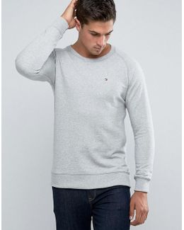 Flag Logo Sweatshirt In Grey Marl