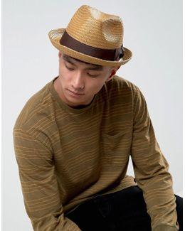 Castor Fedora Straw Hat