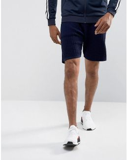Textured Shorts In Navy