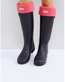 Original Pink Tall Boot Socks
