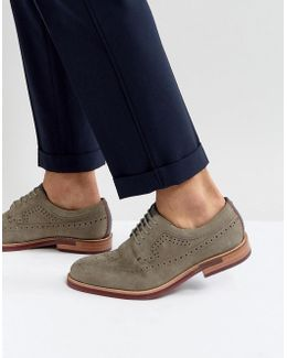 Fanngo Suede Brogue Shoes