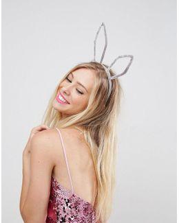 Velvet Bunny Ears Headband