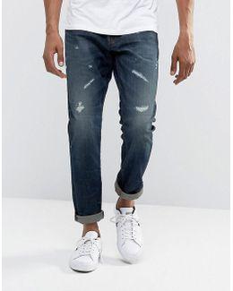 3301 Tapered Dark Aged Restored Wash Jean