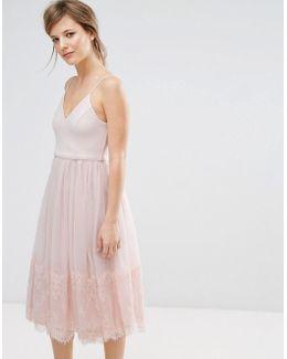 Tulle Midi Prom Dress