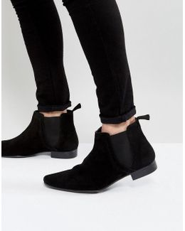 Suede Chelsea Boot In Black
