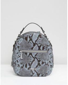 Faux Snake Minimal Backpack