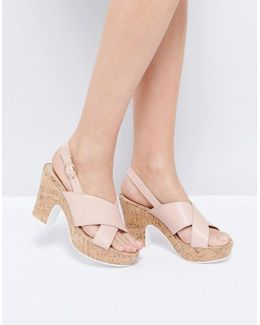 Jambo Cork Platform Leather Heeled Sandals