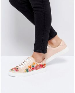 Eternall Floral Blush Leather Sneakers