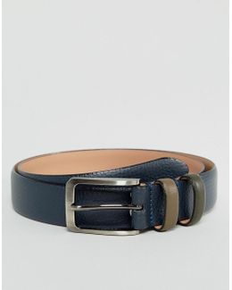 Shrubs Belt In Leather With Contrast Keeper