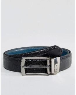 Sunflow Reversible Belt In Leather